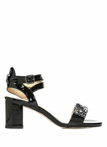 Beymen Club Kalın Topuklu %100 Deri Sandalet Siyah
